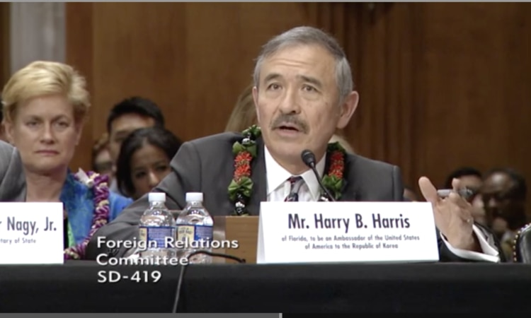 Written Statement of Harry B. Harris, Jr. to the Senate Committee on Foreign Relations