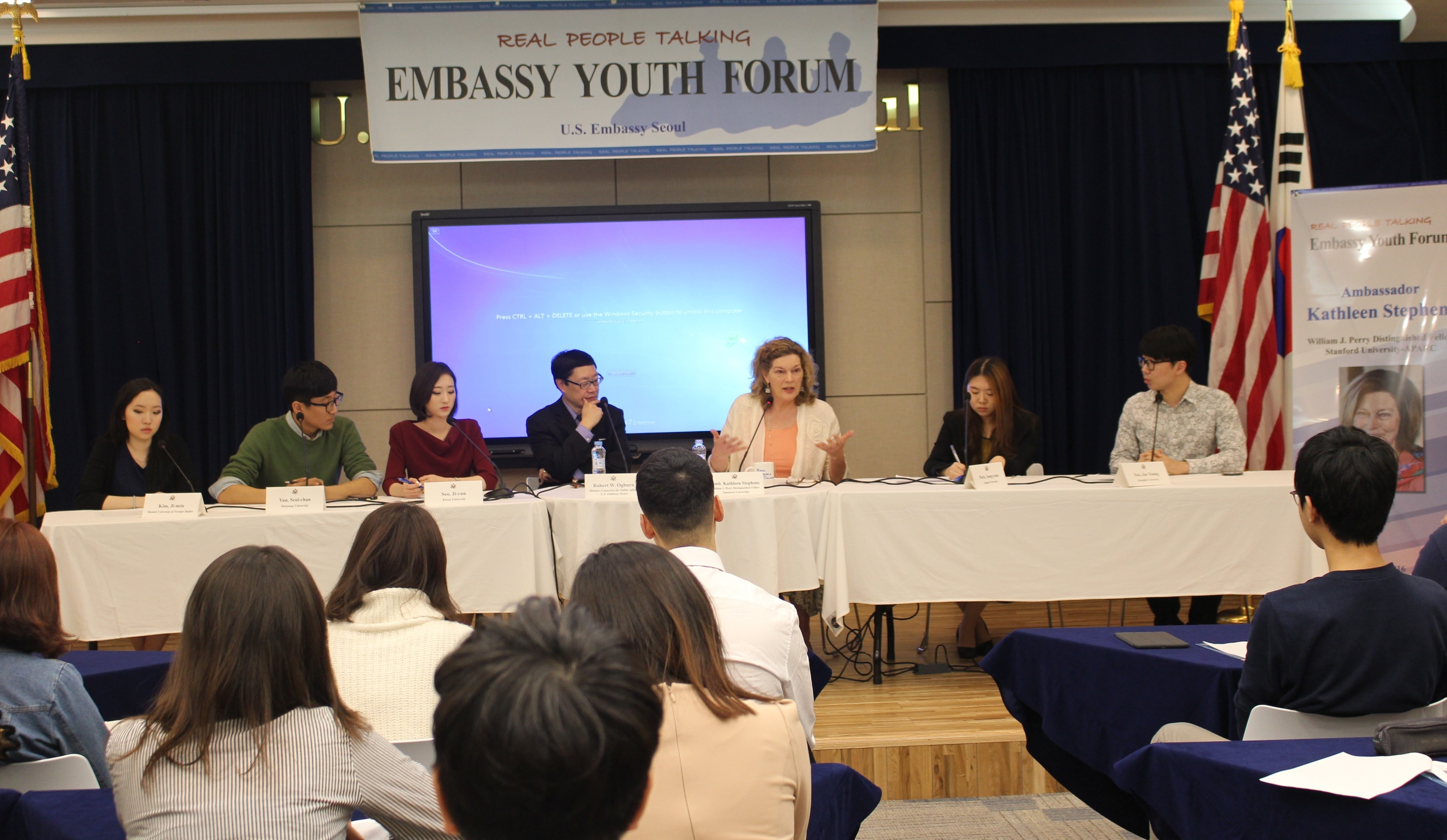 52nd Embassy Youth Forum - Real People Talking with Ambassador Kathleen Stephens