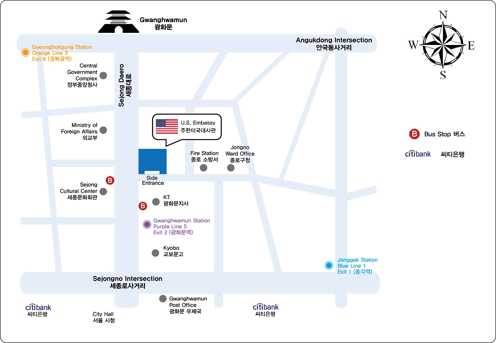 Nonimmigrant Visas US Embassy Consulate In Korea - Us embassy map