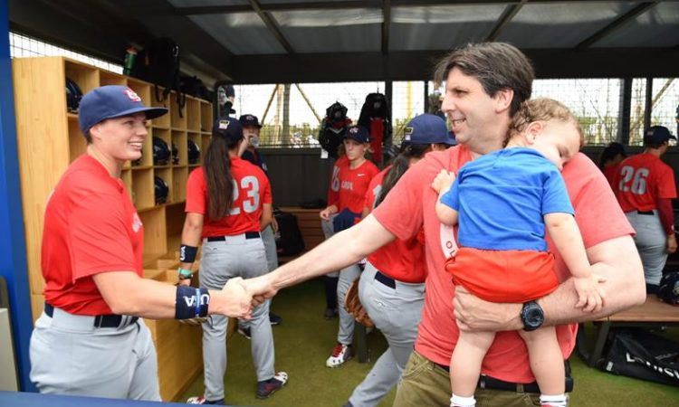 Ambassador Mark Lippert showed support for Team USA at the Women's Baseball World Cup in Busan.