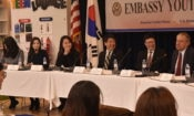 PAO Robert Ogburn Hosts Embassy Youth Forum with Guests from the George Washington Univ.