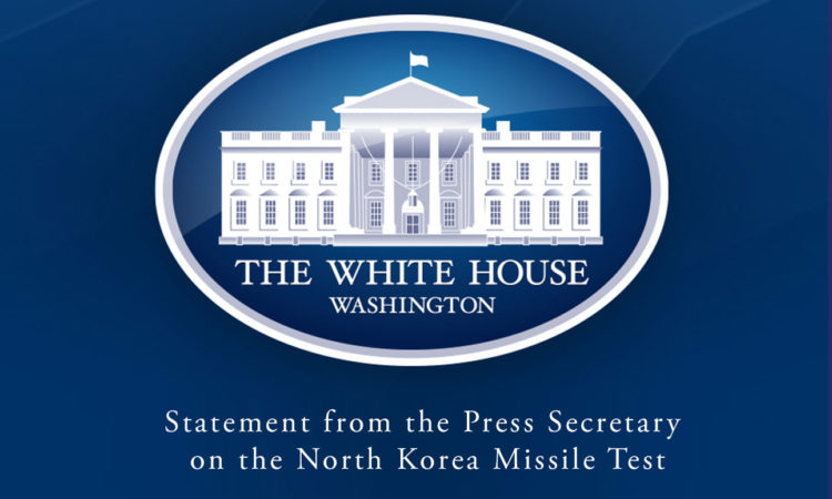 Statement from the Press Secretary on the North Korea Missile Test