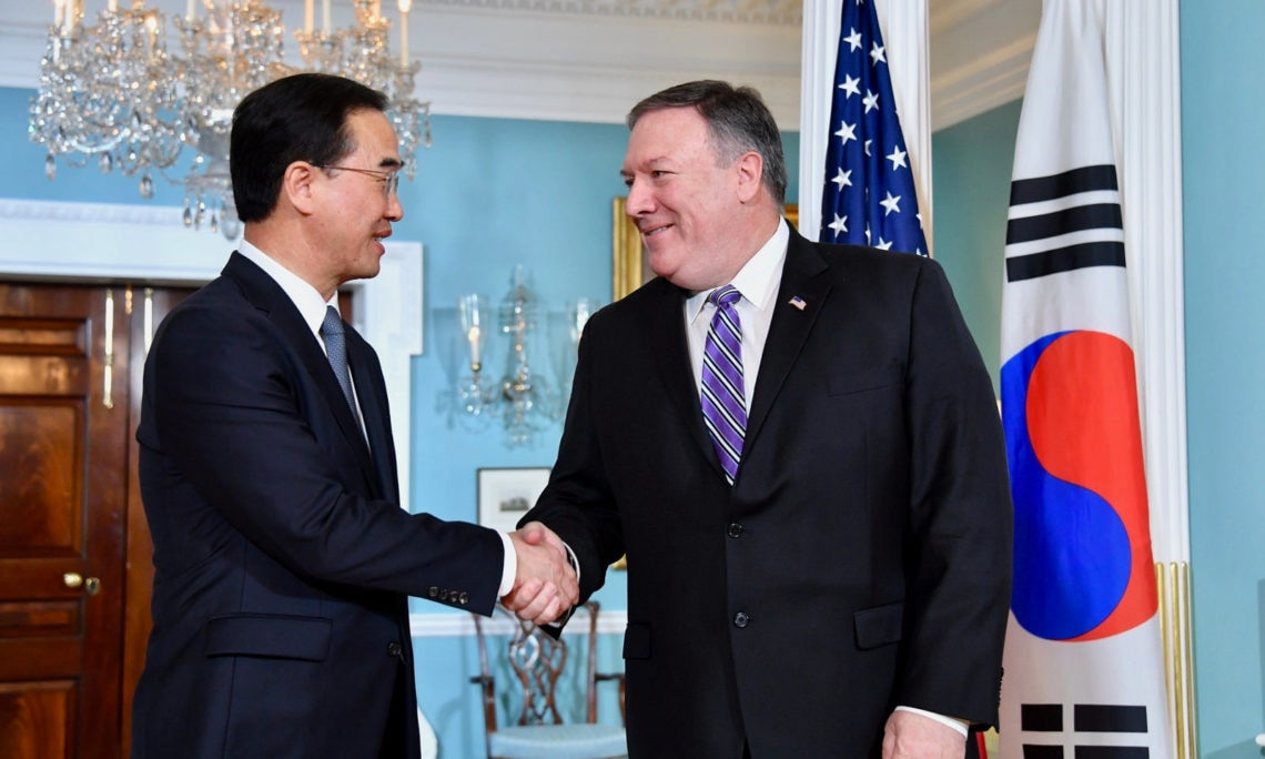 Secretary Pompeo's Meeting With Republic of Korea Unification Minister Cho