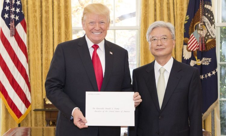 President Trump Receives Credentials from New South Korean Ambassador to U.S.