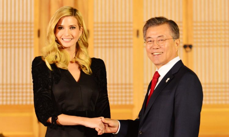 Assistant to the President and Advisor Ivanka Trump Meets President Moon Jae-in