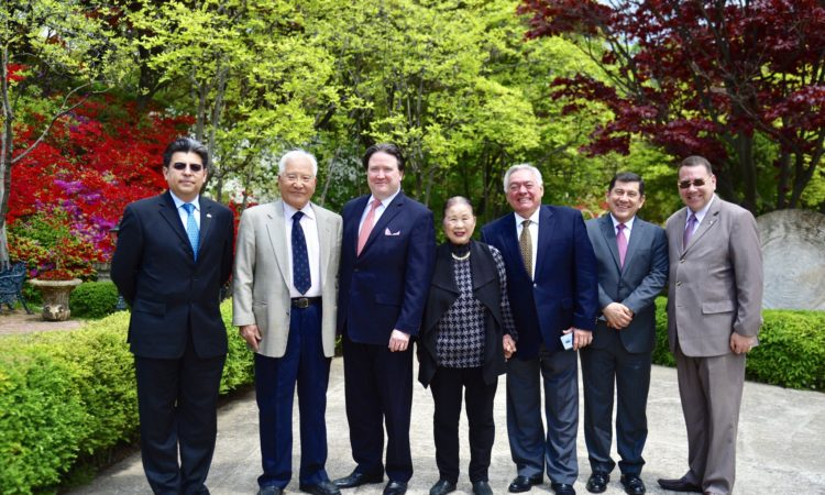 May 3, 2018 - Chargé d'Affaires Marc Knapper (3rd from left) experienced the cultural heritage of Latin America and its cuisine at the Latin American Cultural Center in Goyang.