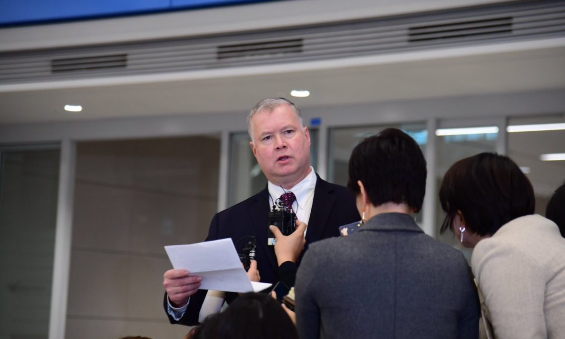 December 19, 2018 - Special Representative for North Korea Stephen Biegun arrived in Seoul to continue close coordination on North Korea with the South Korean government.