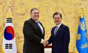 U.S. Secretary of State Mike Pompeo Meets President Moon Jae-in