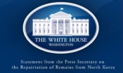 Statement from the Press Secretary on the Repatriation of Remains from North Korea