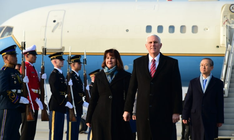 Vice President Mike Pence Arrives in South Korea