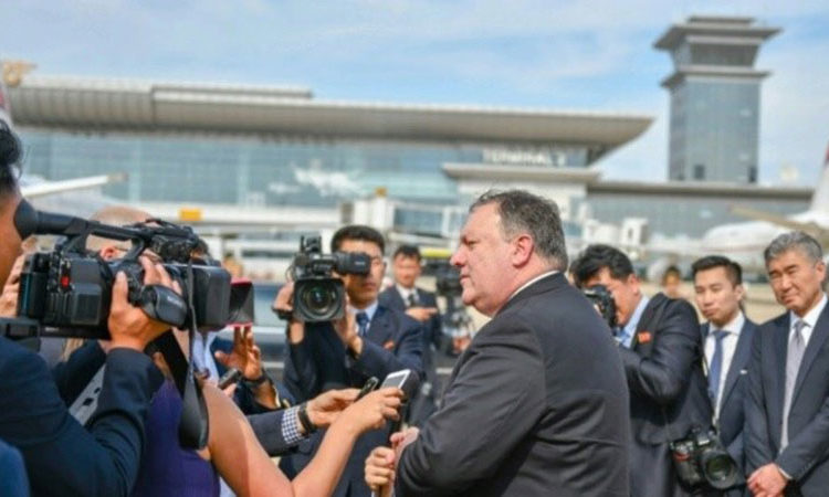 Secretary of State Michael R. Pompeo Remarks to Traveling Press