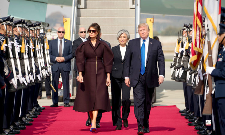 President Donald Trump and First Lady Melania Trump Arrive in South Korea